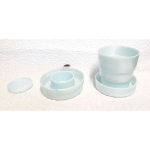 Vintage Moonglow Collapsible Pill Box Holder Cup